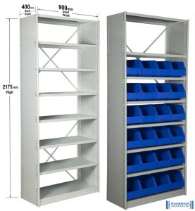 Steel Rut Shelves x2
